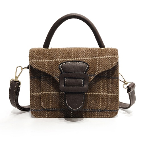 Trendy Color Block Plaid Mini Cross Body Bag