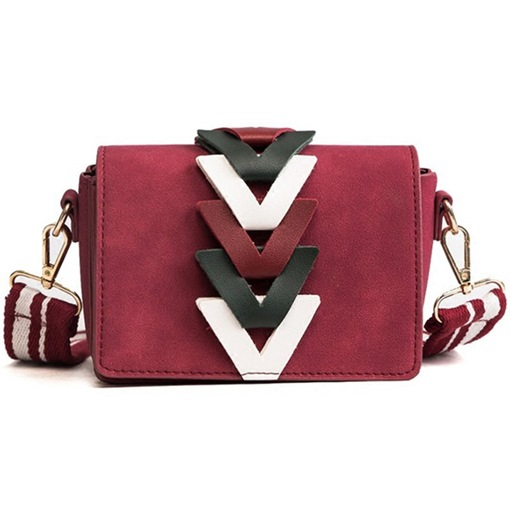 Distinctive Color Block Mini Cross Body Bag