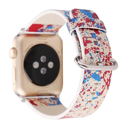Artificial Leather Apple Watch Band with Graffiti Pattern for iWatch Series 3/2/1