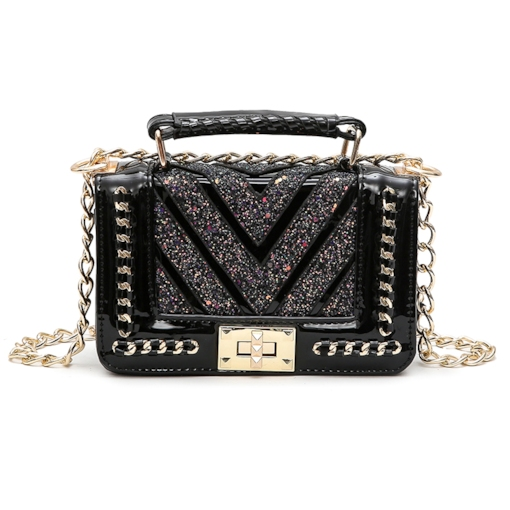 Stylish Chain Adornment Women Cross Body Bag