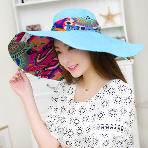 Wide Cloth Printing Sunshade Hats