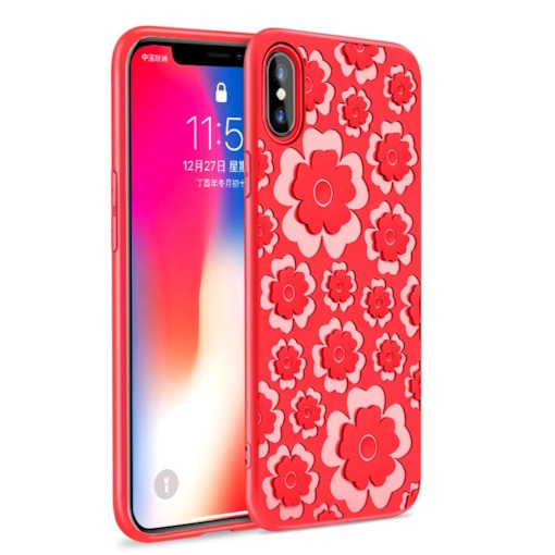 iPhone X Phone Case,Fashion Floral Pattern Soft Phone Shell