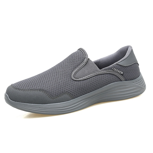 Unisex Mesh Plain Slip On Walking Shoes