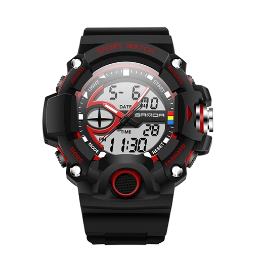 Silicone Band Water Resistant Sports Men's Watches