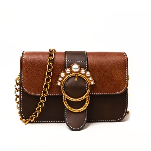 Stylish Pearl Decoration Cross Body Bag