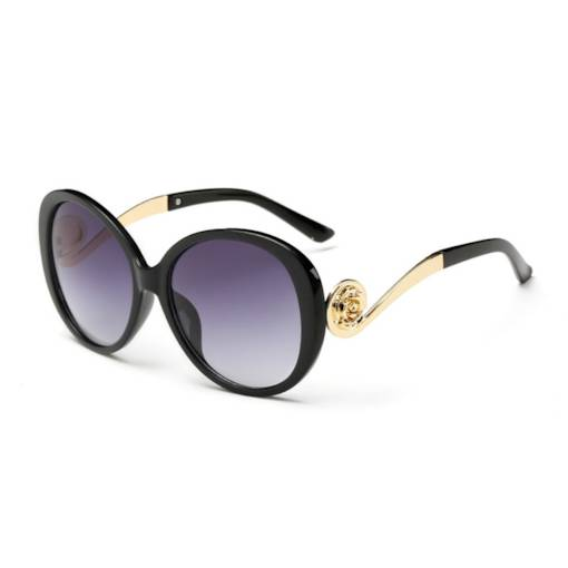 Trendy Golden Frame Anti UV Women's Sunglasses