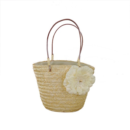 Basket Type Floral Decoration Women Straw Bag