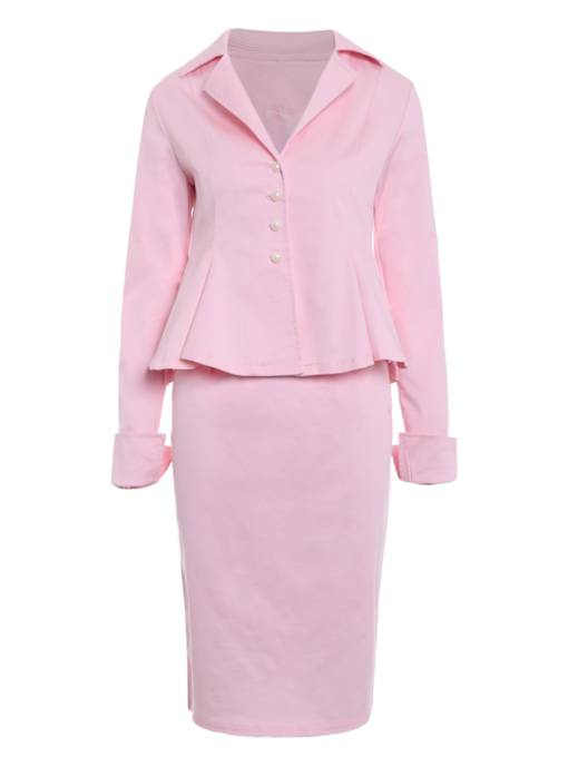 Sexy Falbala Hem Jacket And Skirt Women's Suit