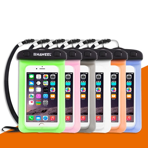 Universal Waterproof Phone Case Transparent Bag with Lanyard for Samsung iPhone