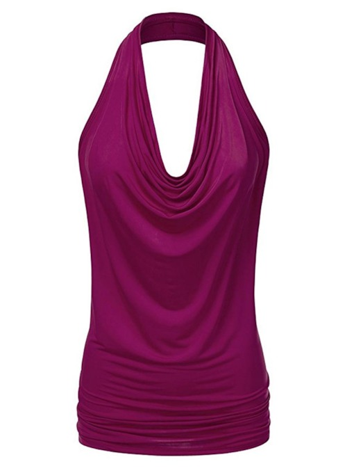 Plain Slim Fit Women's Casual Sleeveless Tank Top