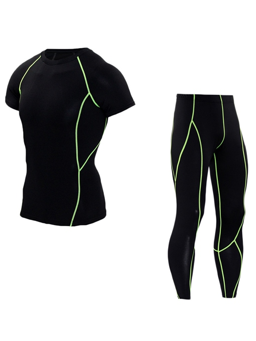 Quick Dry Stripe Running Men's Sports Suit