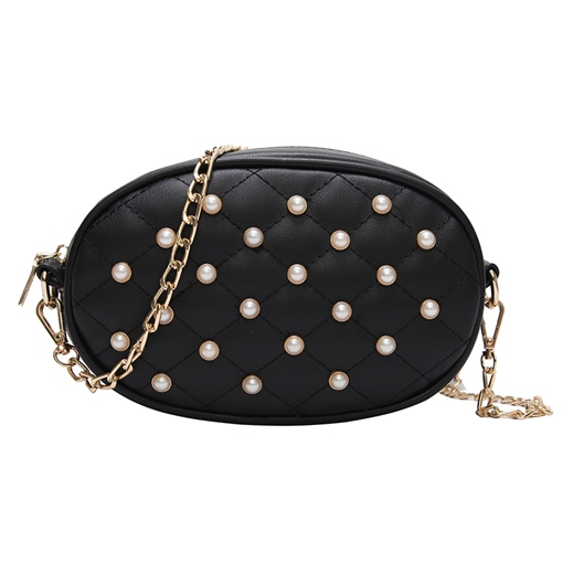 Trendy Beads Decoration Mini Cross Body Bag
