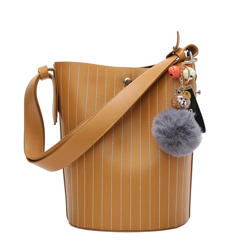 Chic Stripe Pattern Cross Body Bag