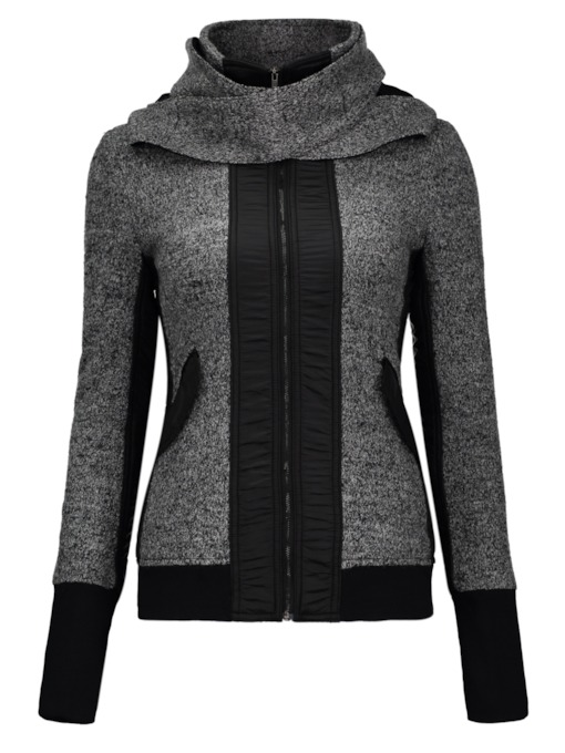 Cool Long Sleeve Zippered Design Women's Hoodie