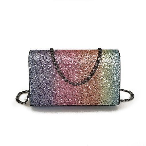 Dazzling Gradient Color Design Cross Body Bag