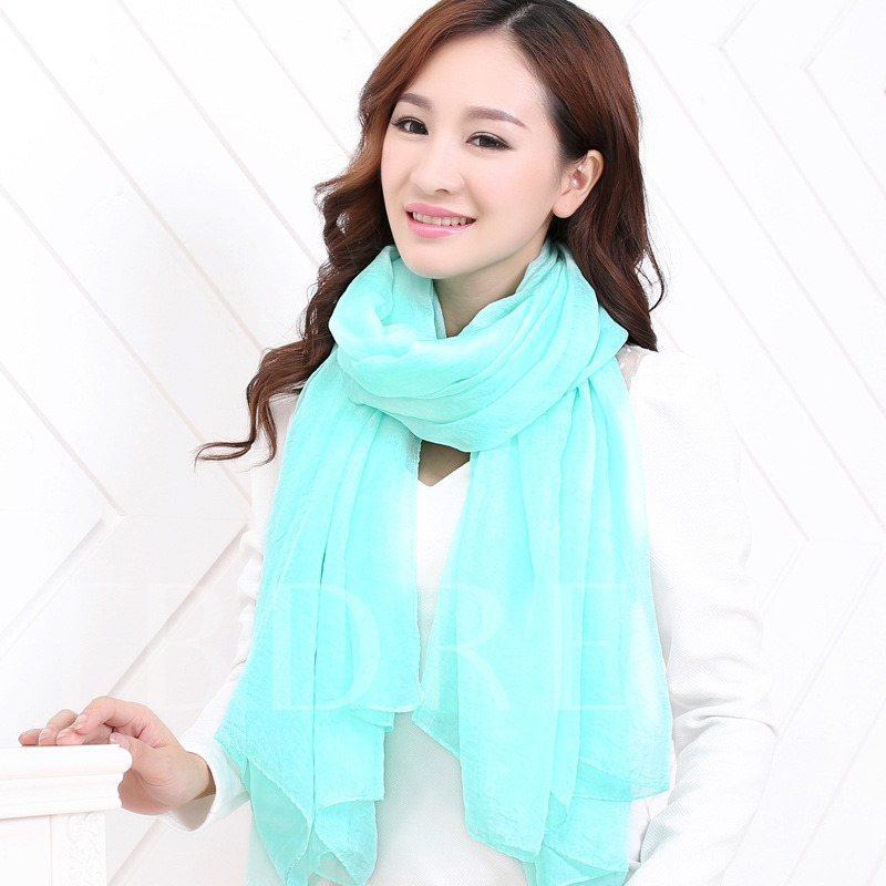 Solid Color Thin Chiffon Beach Scarfs