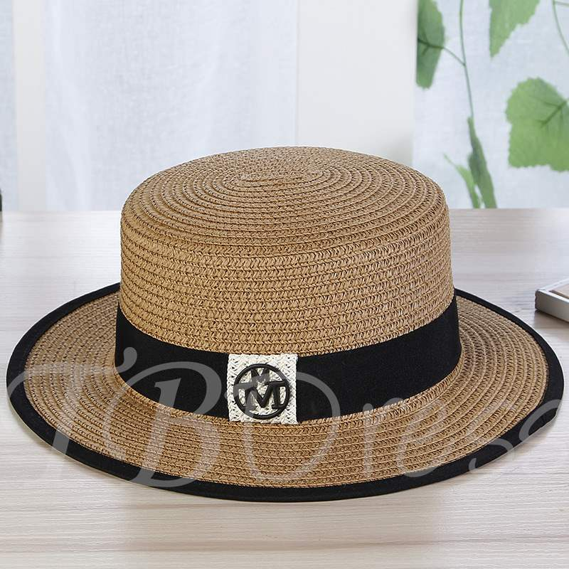 Round Embroidery Straw Hats