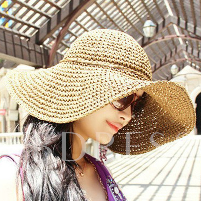 Hollow Out Tie-Dye Sunshade Hats