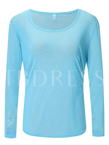Chic Lace Long Sleeve See-Through Women's Blouse