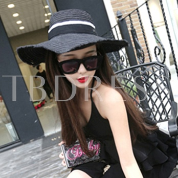 All Match Color Block Straw Hat