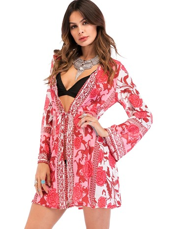 Bohemian Ethnic Floral Women's Cover-Up