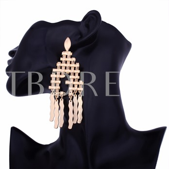 Irregular Overgild Tassel Hyperbole Earrings