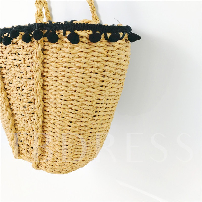 Concise Knitted Women Shoulder Bag