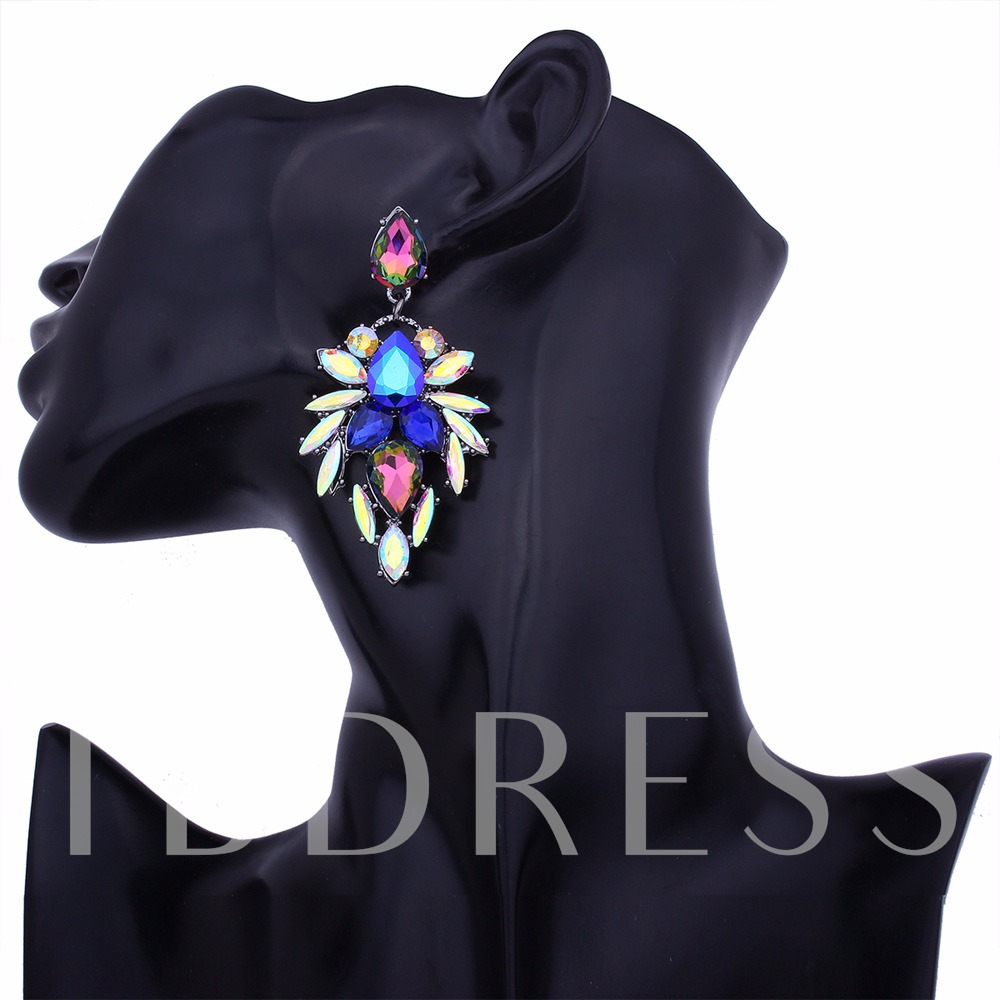 Colorful Rhinestone Diamante Earrings