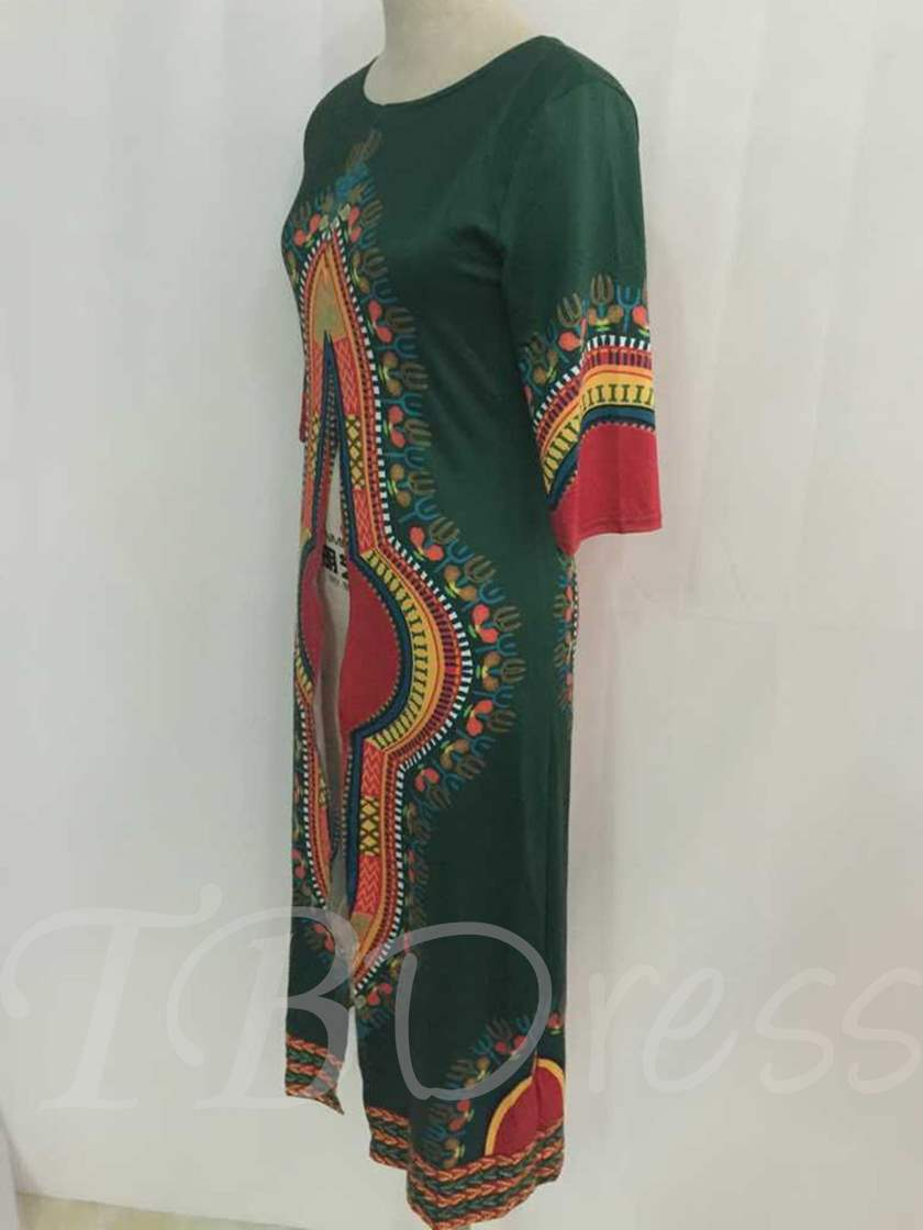 Dashiki African Print Front Split Chic Women's Blouse