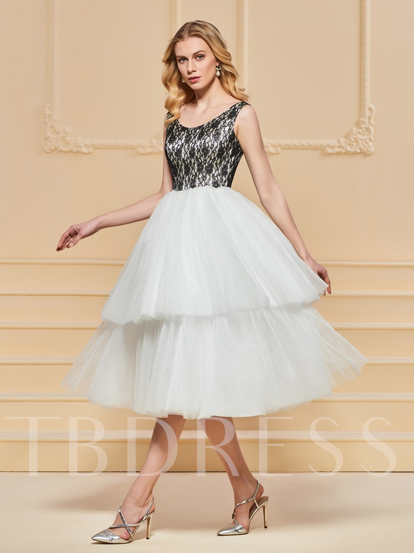 A-Line Lace Straps Empire Evening Dress