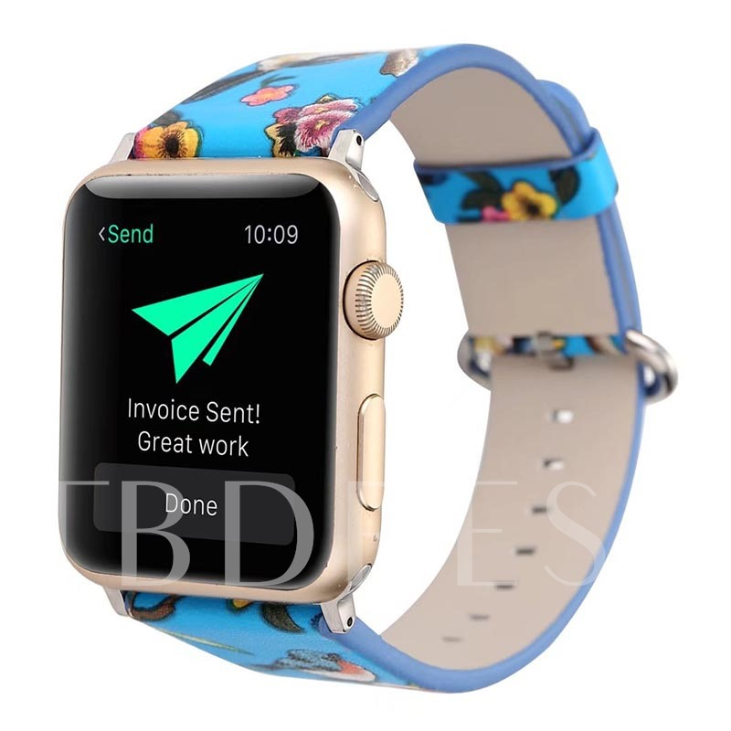 Apple Watch Band with Floral Pattern for iWatch Series 3/2/1