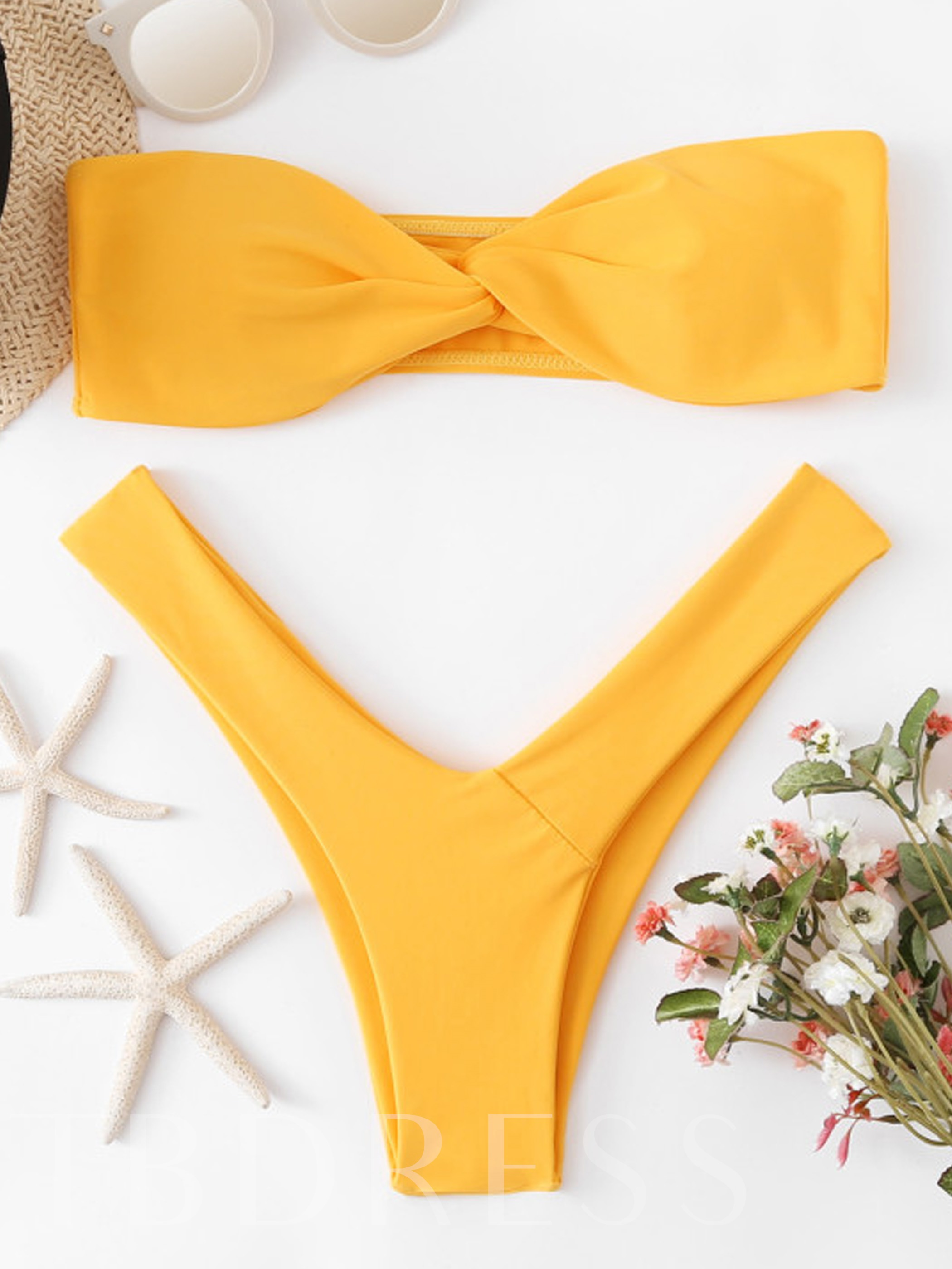 High Waist Bandeau Triangle Women's Bikini