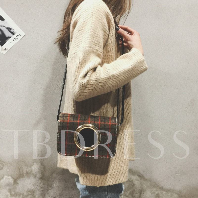 Trendy Plaid Women Cross Body Bag