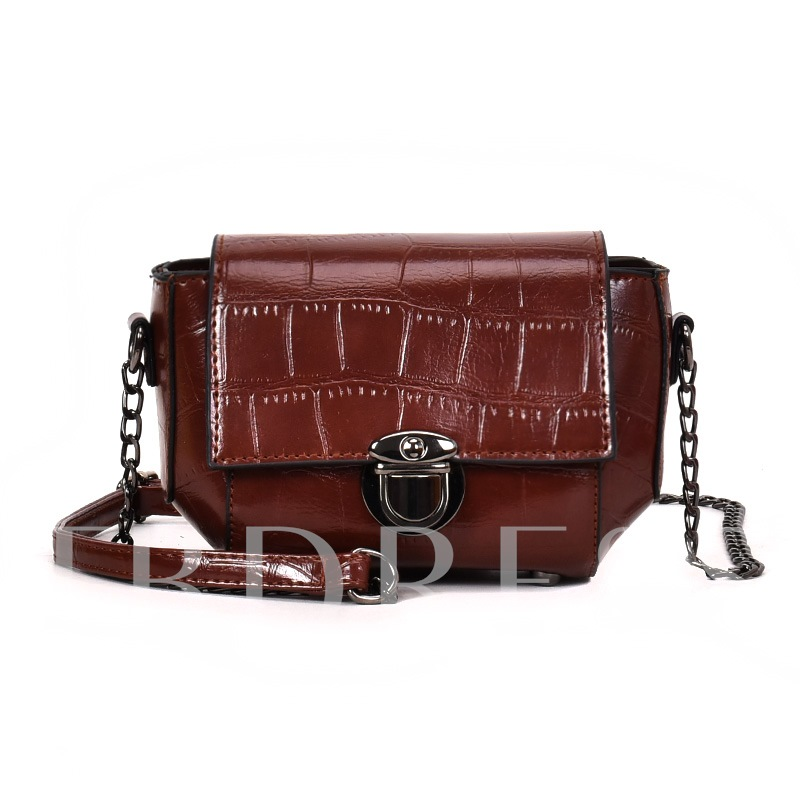 Glossy Plain Women Cross Body Bag
