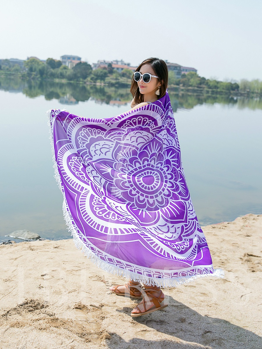 Quick-Dry Portable Anti-Bacteria Floral Beach Cover Up
