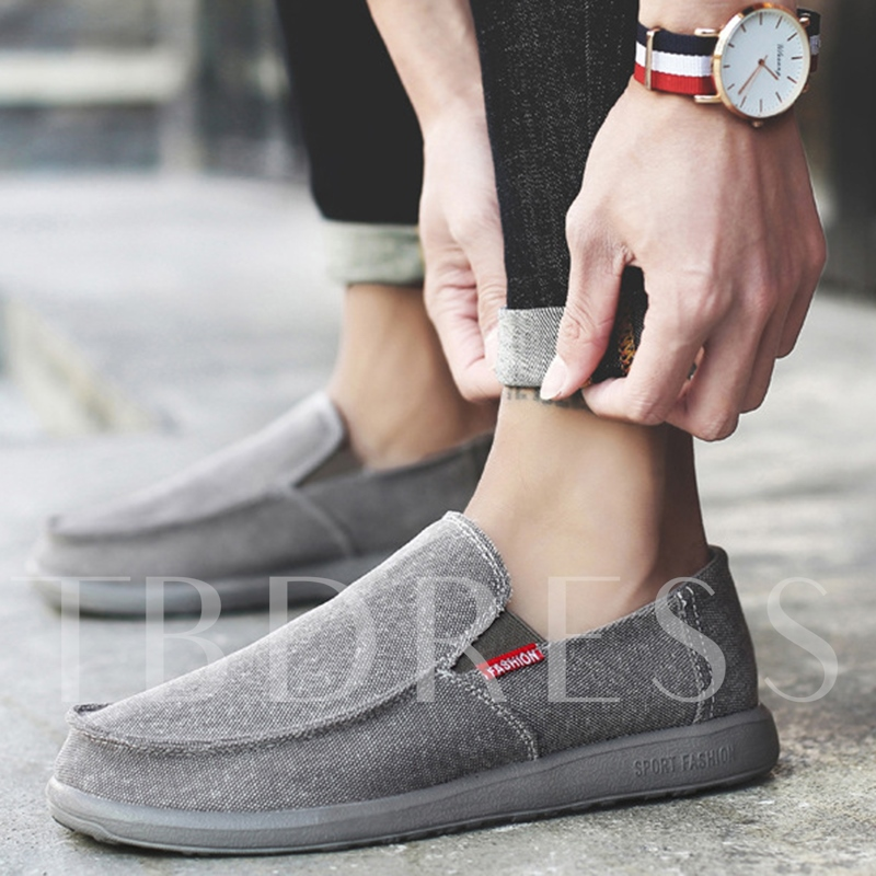 Canvas Slip On Men's Casual Boat Shoes