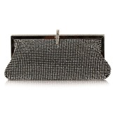 Concise Rhinestone Women Clutch
