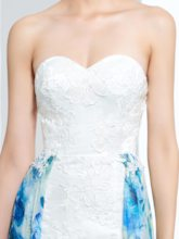 Appliques A-Line Sweetheart Printed Prom Dress