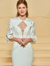 Lace Appliques Wedding Dress with Jacket