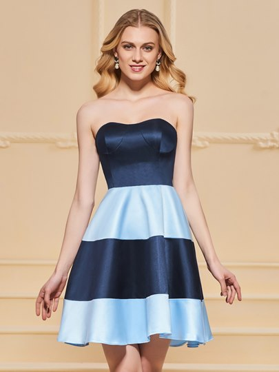 A-LineSweetheart Multi Color Homecoming Dress