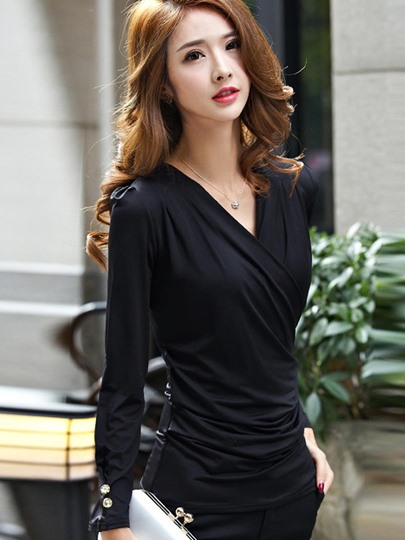 Slim Fit Sexy All-Matched Women's Blouse Top