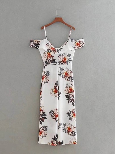 Sexy Floral Hollow Women's Jumpsuit