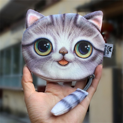 3D Kitty Shape Mini Wallet