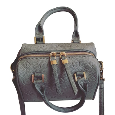 Occident Style Embossing Zipper Satchel