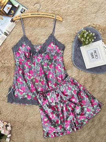 Floral Summer Pajamas Suit