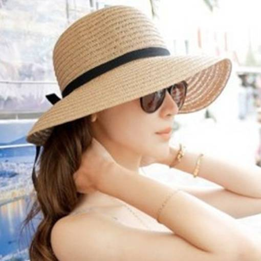 Sun Block Bowknot Straw Hat