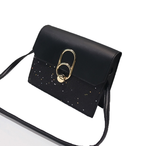 Casual Sequins Color Block Cross Body Bag