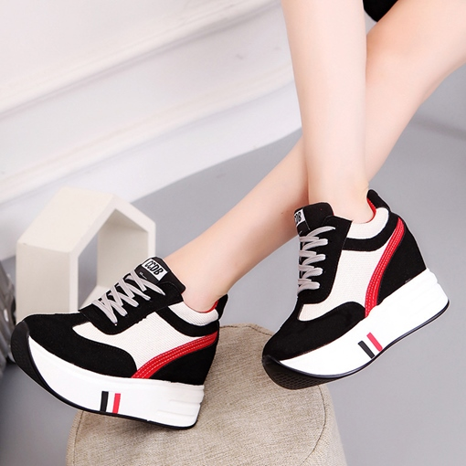 Platform Lace Up Women's Height Shoes