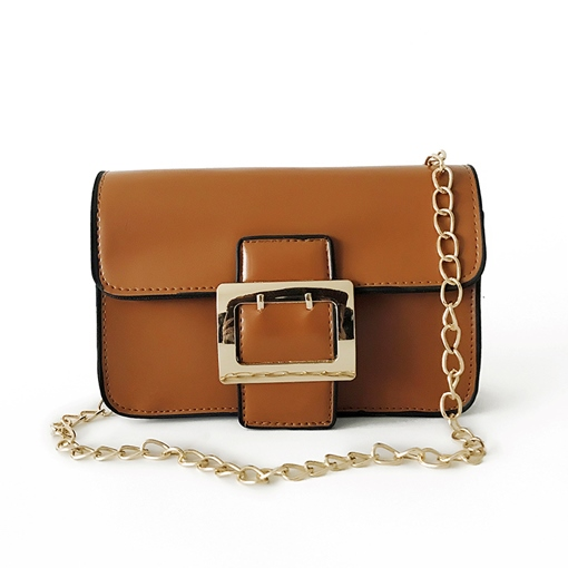 Casual Belt Decorated Chain Cross Body Bag