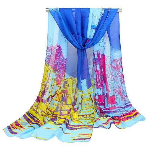 Chiffon Oil Painting Design Scarfs